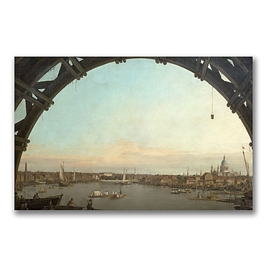 Trademark Fine Art Canatello 'London through an arch of Westminster' Canvas Art 14x24 Inches