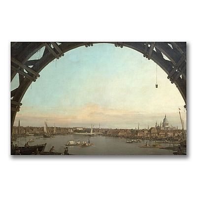Trademark Fine Art Canatello 'London through an arch of Westminster' Canvas Art 18x32 Inches