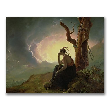 Trademark Fine Art Joseph Wright of Derby 'Widow of an Indian Chief'Canvas Art