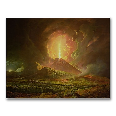 Trademark Fine Art Joseph Wright of Derby 'Eruption of Vesuvius' Canvas Art