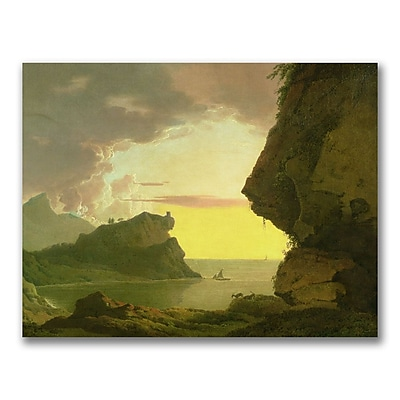 Trademark Fine Art Joseph Wright of Derby 'Sunset of the Coast' Canvas Art