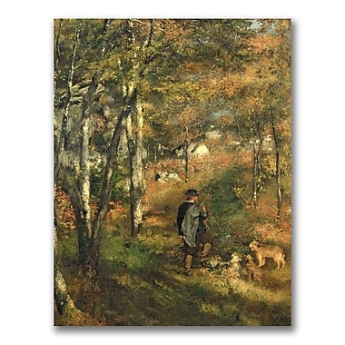 Trademark Fine Art Pierre Renoir 'Jules Le Coeur in the Forest' Canvas Art 35x47 Inches