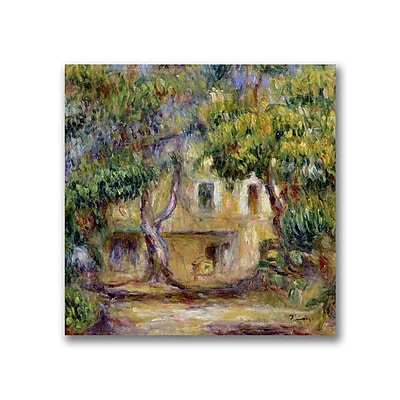 Trademark Fine Art Pierre Renoir 'The Farm at Les Collettes' Canvas Art 14x14 Inches