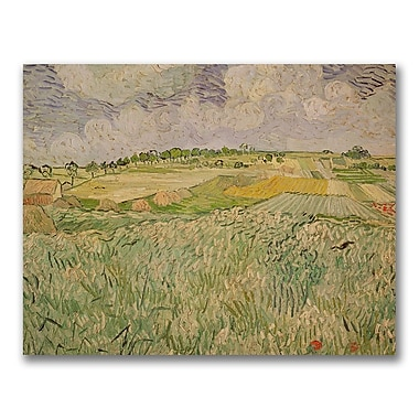 Trademark Fine Art Vincent Van Gogh'The Plains of Auvers'Canvas Art