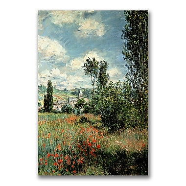 Trademark Fine Art Claude Monet 'Path through the Poppies' Canvas Art