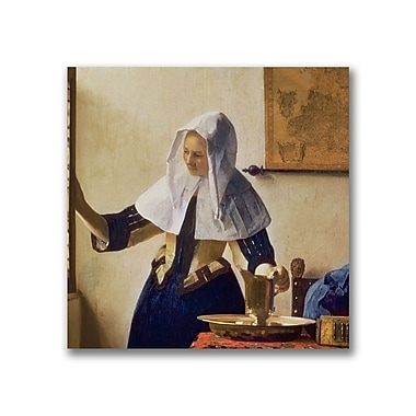 Trademark Fine Art Jan Vermeer 'Young Woman with a Water Jug' Canvas Art 18x18 Inches