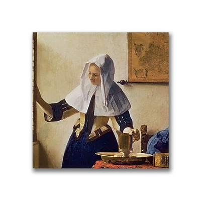 Trademark Fine Art Jan Vermeer 'Young Woman with a Water Jug' Canvas Art 14x14 Inches
