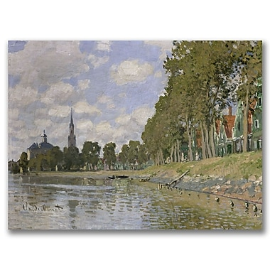 Trademark Fine Art Claude Monet 'Zaandam 1871' Canvas Art