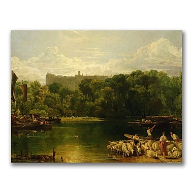 Trademark Fine Art Joseph Turner 'Windsor Castle from the Thames' Canvas Art