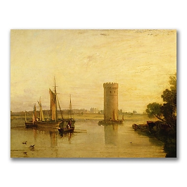 Trademark Fine Art Joseph Turner 'Tabley seat of Sir J.F Leicester' Canvas Art