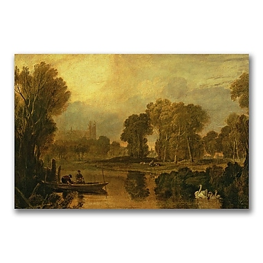 Trademark Fine Art Joseph Turner 'Eton College from the River' Canvas Art 16x24 Inches