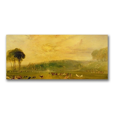 Trademark Fine Art Joseph Turner 'The Lake Petworth, Fighting Bucks' Canvas Art 14x32 Inches