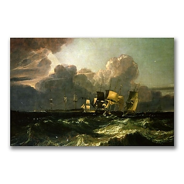 Trademark Fine Art Joseph Turner 'Ships Bearing up for Anchorage' Canvas Art