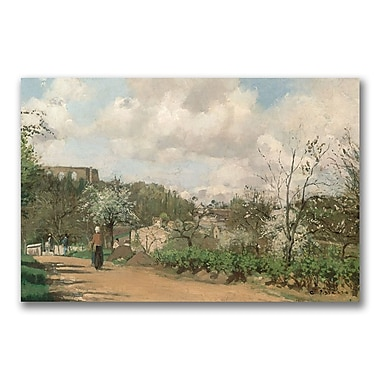 Trademark Fine Art Camille Pissaro 'View from Louveciennes' Canvas Art