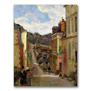 Trademark Fine Art Paul Gauguin 'A Suburban Street' Canvas Art 18x24 Inches