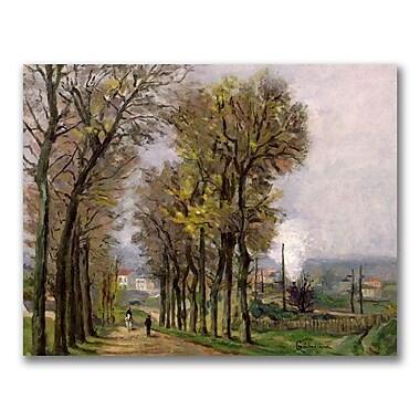 Trademark Fine Art Jean Baptiste Guillamin 'Landscape in France' Canvas Art