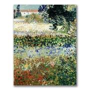 Trademark Fine Art Vincent Van Gogh 'Garden in Bloom' Canvas Art