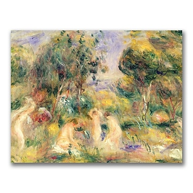 Trademark Fine Art Pierre Renoir 'The Bathers' Canvas Art 24x32 Inches
