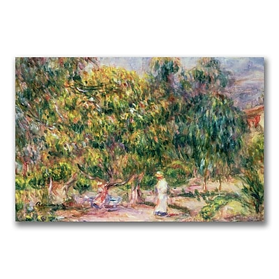 Trademark Fine Art Pierre Renoir 'Garden of Les Colettes' Canvas Art 18x24 Inches