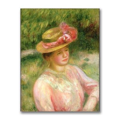 Trademark Fine Art Pierre Renoir 'The Straw Hat' Canvas Art 18x24 Inches