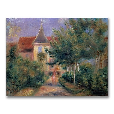 Trademark Fine Art Pierre Renoir 'Renior's house at Essoyes' Canvas Art 24x32 Inches