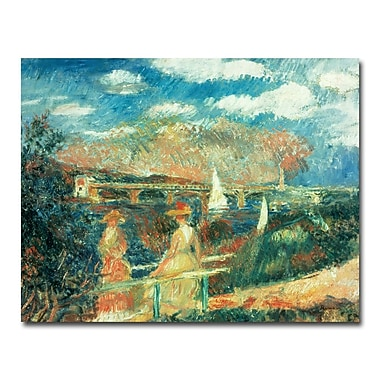 Trademark Fine Art Pierre Renoir 'Banks of the Seine at Argenteuil' Canvas Art 26x32 Inches
