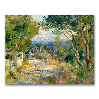 Trademark Fine Art Pierre Renoir 'L'Estaque 1882' Canvas Art 35x47 Inches