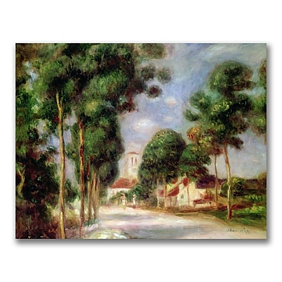 Trademark Fine Art Pierre Renoir 'The Road to Essoyes' Canvas Art 18x24 Inches