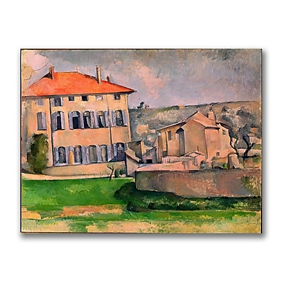 Trademark Fine Art Paul Cezanne 'Jas de Bouffan' Canvas Art 26x32 Inches