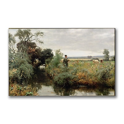 Trademark Fine Art David Faraquharson 'Off Fishing' Canvas Art 14x24 Inches