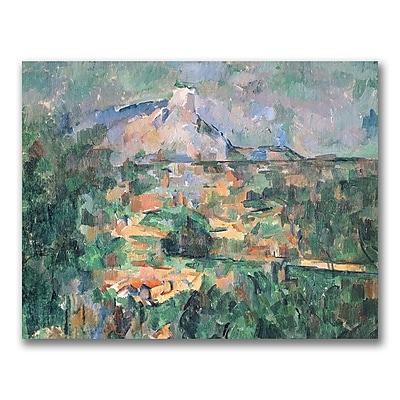 Trademark Fine Art Paul Cezanne 'Montagne Sainte-Victoire' Canvas Art 35x47 Inches