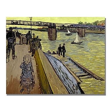 Trademark Fine Art Vincent Van Gogh 'Le Pont De Trinquetaille' Canvas Art