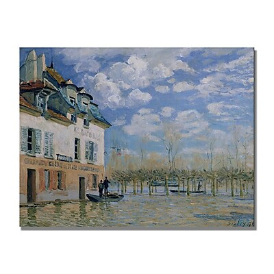 Trademark Fine Art Alfred Sisley 'The Boat in the Flood' Canvas Art