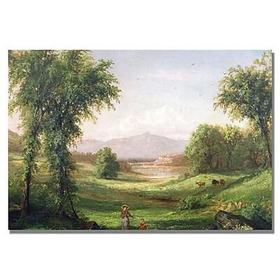 Trademark Fine Art Samuel Colman 'New Hampshire Landscape' Canvas Art 35x47 Inches