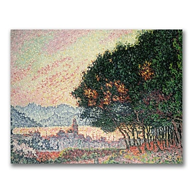Trademark Fine Art Paul Signac 'Forest Near St. Tropez' Canvas Art 18x24 Inches