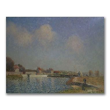 Trademark Fine Art Alfred Sisley 'The Loing at Saint-Mammes' Canvas Art 35x47 Inches
