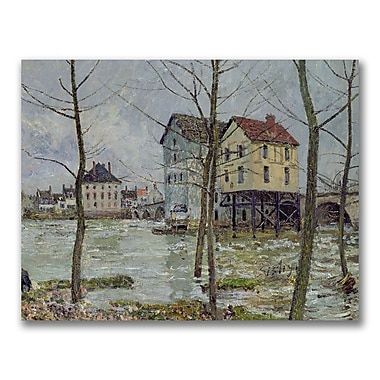 Trademark Fine Art Alfred Sisley 'The Mills at Moret-sur-Loing' Canvas Art
