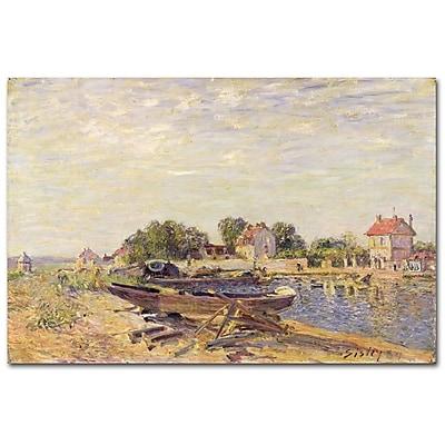 Trademark Fine Art Alfred Sisley 'The Loing at Saint-Mammes II' Canvas Art