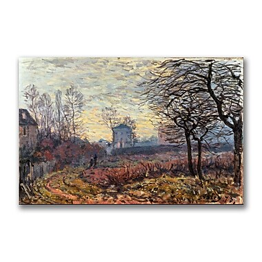 Trademark Fine Art Alfred Sisley 'Landscape Near Louveciennes' Canvas Art 35x47 Inches