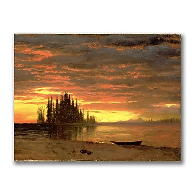 Trademark Fine Art Albert Biersdant 'California Sunset' Canvas Art 18x24 Inches