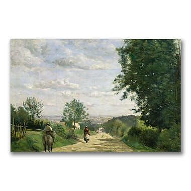 Trademark Fine Art Jean Baptiste Corot 'The Road to Sevres' Canvas 22x32 Inches