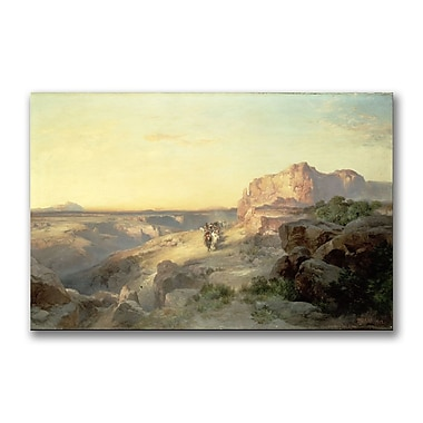 Trademark Fine Art Thomas Moran 'Red Rock trail, South Utah' Canvas Art 22x32 Inches