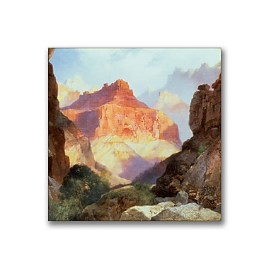 Trademark Fine Art Thomas Moran 'Under the Red Wall' Canvas Art 14x14 Inches