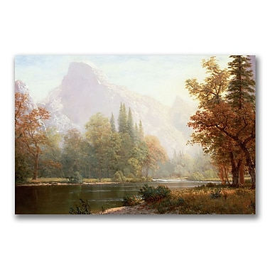 Trademark Fine Art Albert Biersdant 'Half Dome, Yosemite' Canvas Art