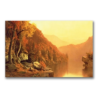 Trademark Fine Art Jervis McEntee 'Shawanagunk Mountains Autumn' Canvas Art 24x47 Inches