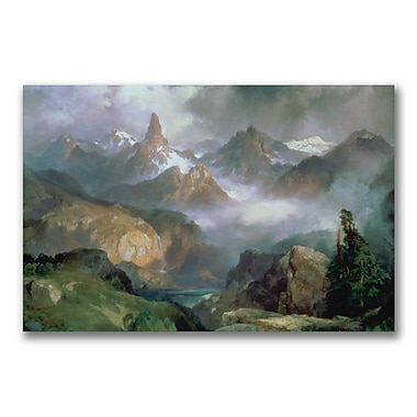 Trademark Fine Art Thomas Moran 'Index Peak Yellowstone' Canvas Art