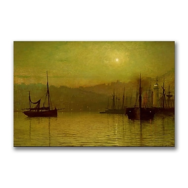 Trademark Fine Art John Grimshaw 'Calm Waters, Scarborough' Canvas Art 22x32 Inches