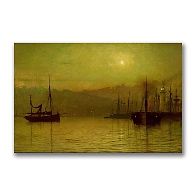 Trademark Fine Art John Grimshaw 'Calm Waters Scarborough' Canvas Art 16x24 Inches