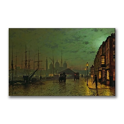 Trademark Fine Art John Grimshaw 'Prince's Dock Hull 1882' Canvas Art 14x24 Inches