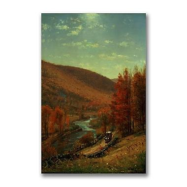 Trademark Fine Art Thomas Whittredge 'A Road Through Belvedere' Canvas Art 16x24 Inches